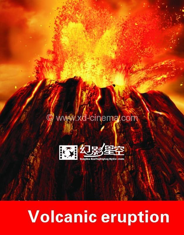 Volcanic eruption 5D Cinema Films