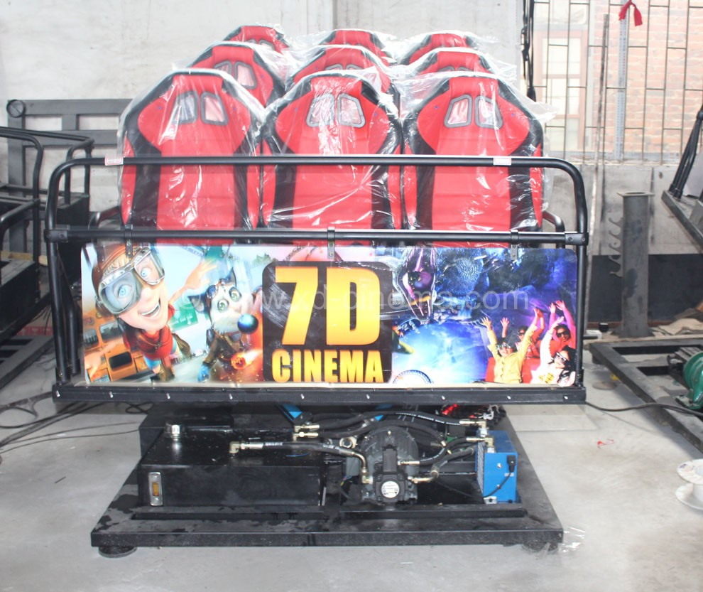 Hydraulic Equipment 7D Movie Theater With 9 Seat For Sale