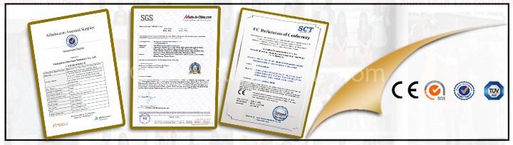 CE SGS TUV certificate