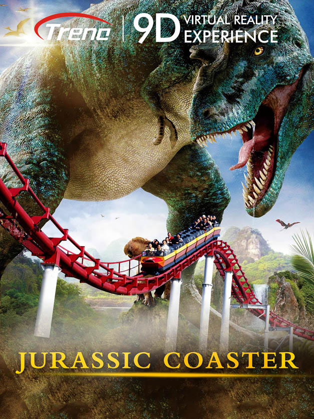 JURASSIC COASTER 9d vr movie
