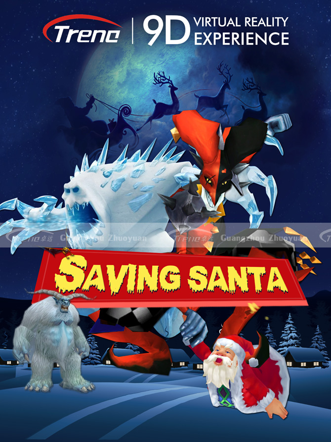 Saving SANTA a new 9d virtual reality simulator's movie