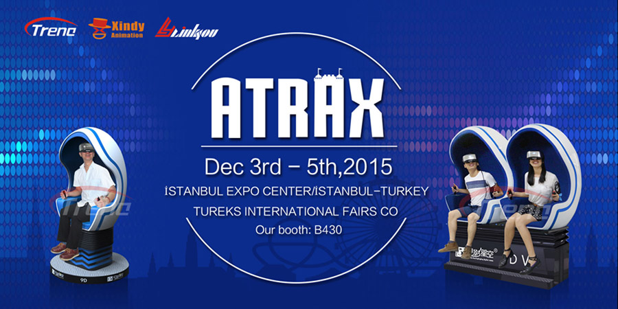 We will show virtual reality simulator in 2015ATRAX 1