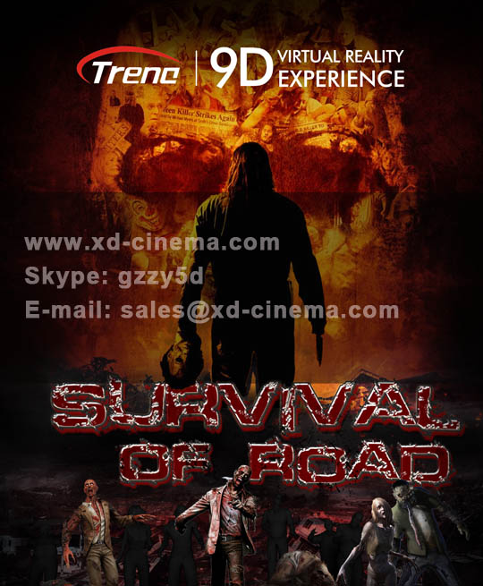 Survival of road- 9d virtual reality movie