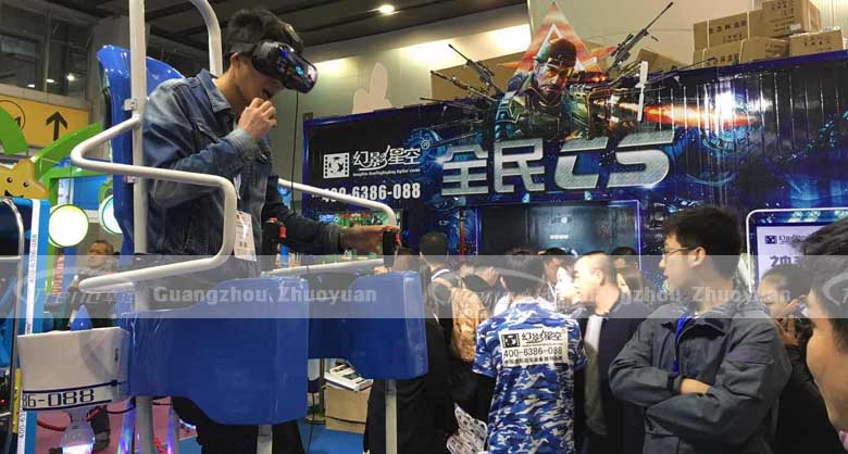 The face expressions of Zhuoyuan Virtual Reality products players (4)