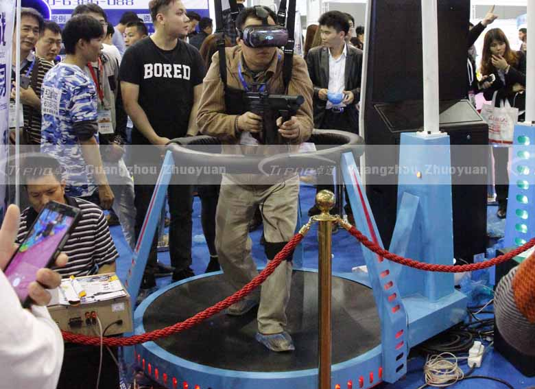 The face expressions of Zhuoyuan Virtual Reality products players (6)