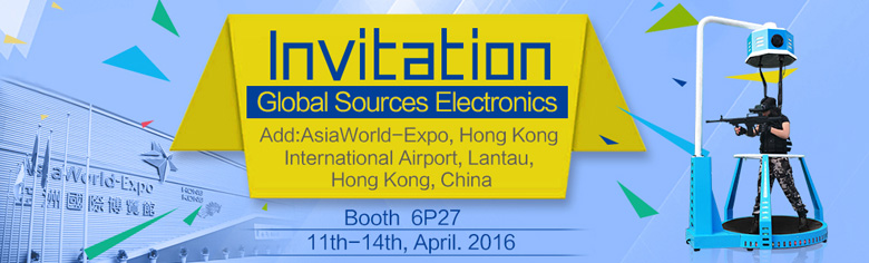 Zhuoyuan VR Walker will meet you in Global Sources Electronics Expo 1