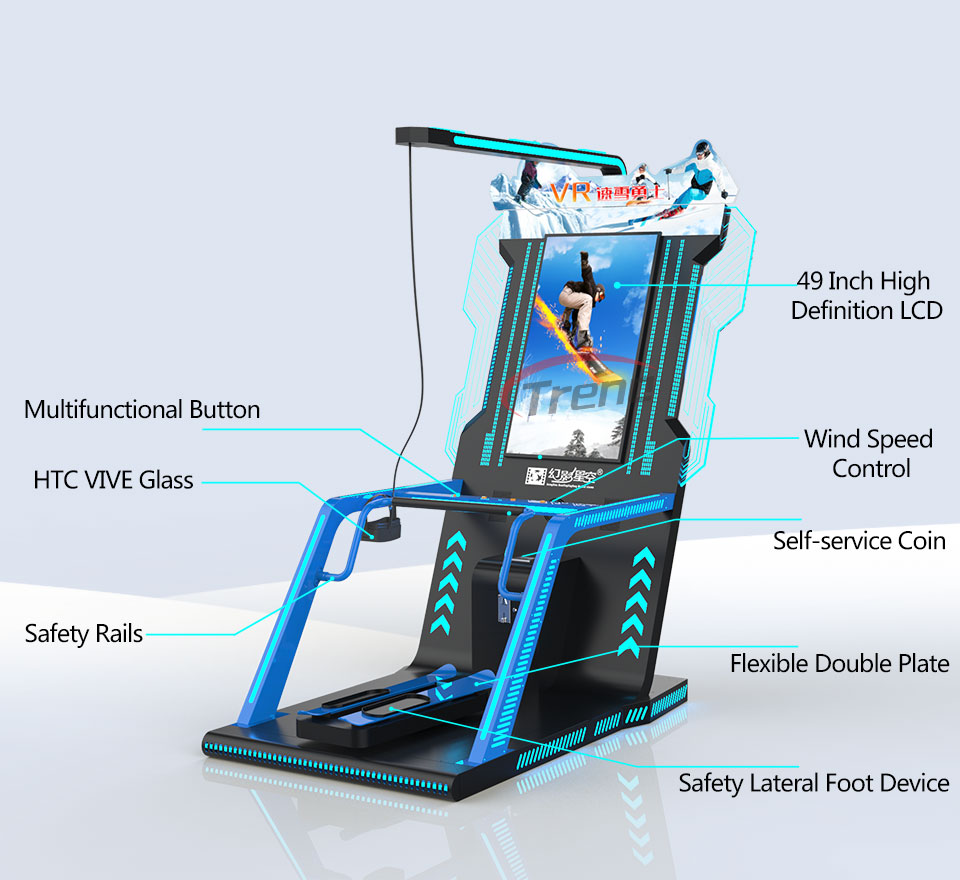 Zhuoyuan Virtual Reality Simulator VR Ski Machine (1)