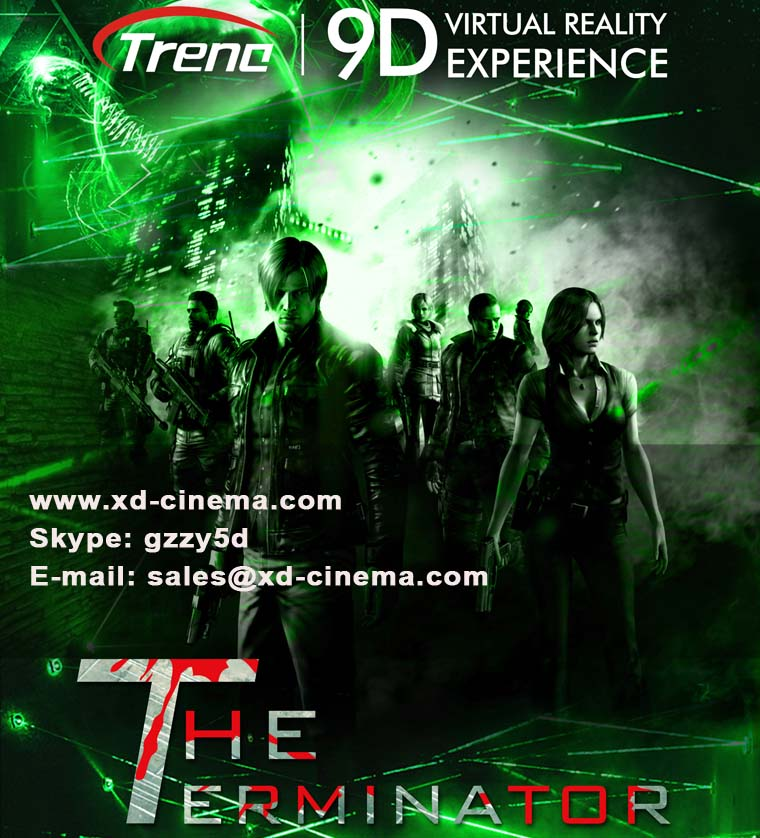 The Terminator -9d virtual reality movie