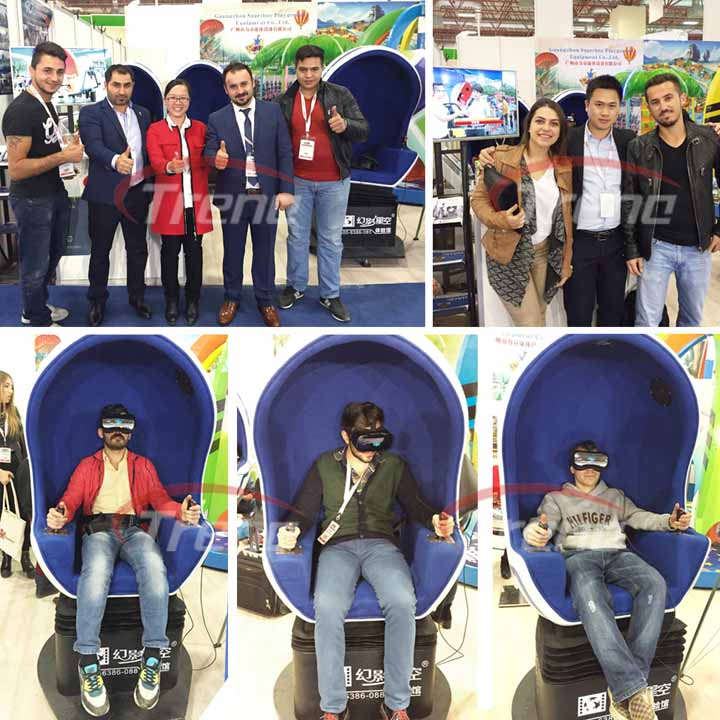 Zhuoyuan virtual reality simulator become the center of attraction in 2015 ATRAX