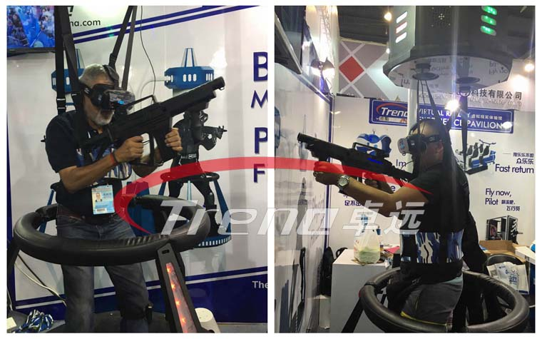 VR Treadmill and Vibrating VR was the main character in Canton Fair (2)