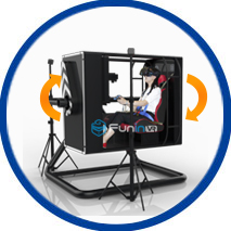 Zhuoyuan 720 Degree Flight VR Simulator with Flight Game